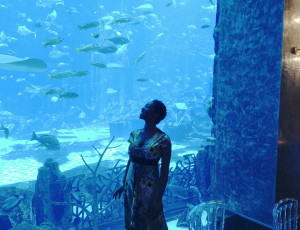 Azania sings at the famous Atlantis in Dubai