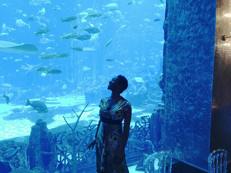 Azania sings at the famous Atlantis in Dubai