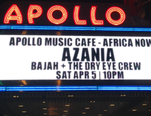 Azania live at the legendary Apollo!
