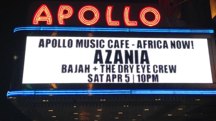 Azania live at the legendary Apollo!