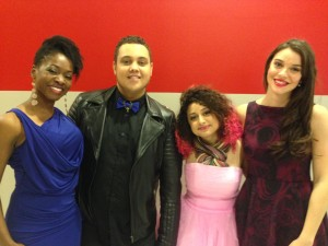 Azania with competitors  on The Voice
